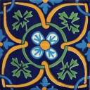 Mexican Talavera Tile  San Angelin Azul