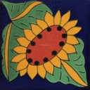 Mexican Talavera Tiles Sunflower 6