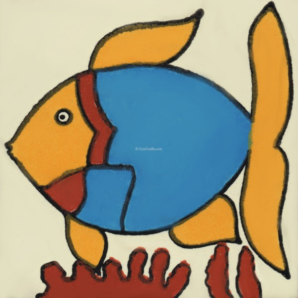 Attractive Mexican Talavera Tile Fish 3 Nice Design