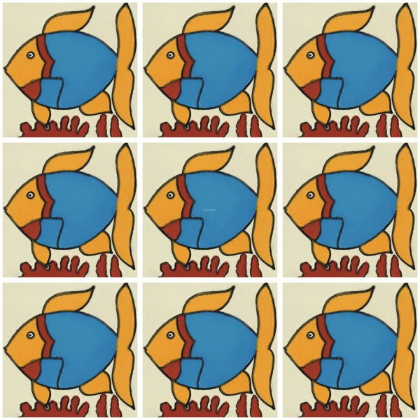 Wonderful Mexican Talavera Tile Fish 3