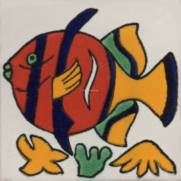 Beautiful Mexican Talavera Tile Fish 2 Nice Look