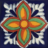 Mexican Talavera Tile Firenze - SALE 4X4""