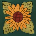 Mexican Talavera Tile Sunflower 2