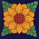 Mexican Talavera Tile Sunflower 4