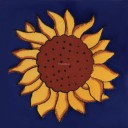 Mexican Talavera Tile Sunflower 5