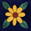 Mexican Talavera Tile Sunflower 10