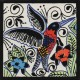 Ceramic Frost Proof Tile Hummingbirds