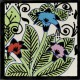 Ceramic Frost Proof Tile Hummingbirds Flowers