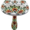 Mexican Talavera Pedestal Sink Girasoles2