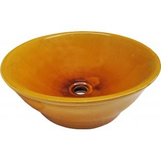 Talavera Vessel Sink Round Amarillo