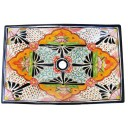 Mexican Talavera Vessel Rectangular Sink VSR02