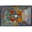 Mexican Talavera Vessel Rectangular Sink VSR05