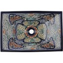 Mexican Talavera Vessel Rectangular Sink VSR08