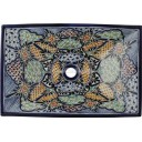 Mexican Talavera Vessel Rectangular Sink VSR13