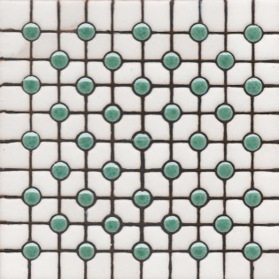 Ceramic High Relief Tile Blue Dots