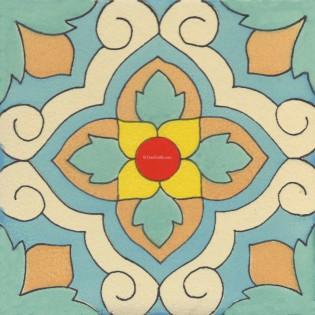 Mexican Talavera Tile Matte Lorica