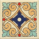 Mexican Talavera Tile Matte Cauca