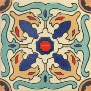 Mexican Talavera Tile Matte Aragon