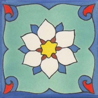 Mexican Talavera Tile Matte Amazona