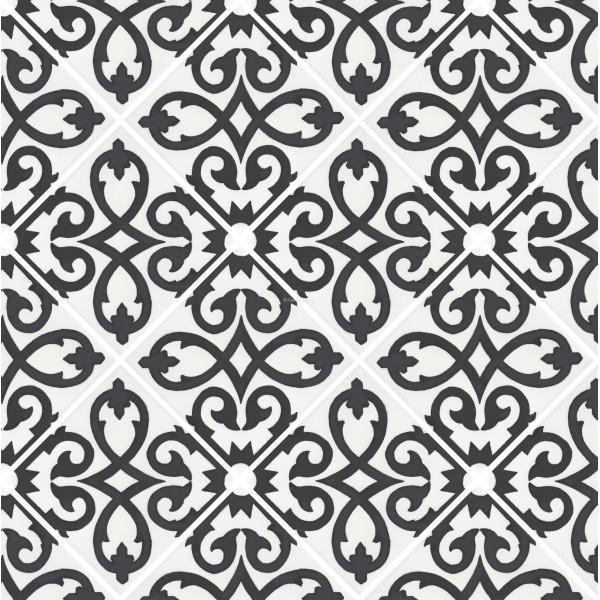 Black And White Talavera Tile Robotena