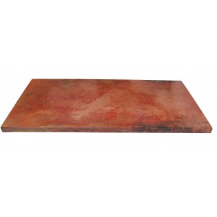 Hammered Copper Table Top Rectangular