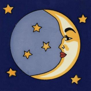 Mexican Talavera Tiles Moon 1