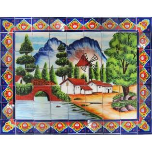 Mexican Talavera Mural Paisaje1