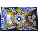 Mexican Talavera Vessel Rectangular Sink Puebla