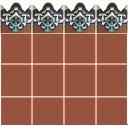 Ceramic High Relief Border Tile Plaquet Alejandro