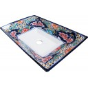 Mexican Talavera Vessel Rectangular Sink VSR07