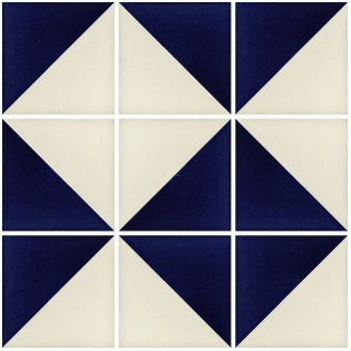 Mexican Talavera Tiles White Blue