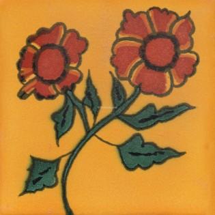 Mexican Talavera Tiles Flowers 1