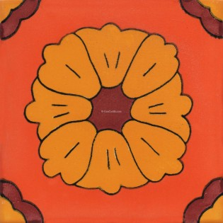 Mexican Talavera Tiles Flowers 2