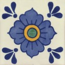 Mexican Talavera Tiles Flowers 11