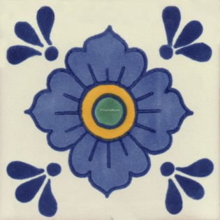 Mexican Talavera Tiles Flowers 11