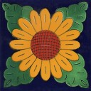 Mexican Talavera Tiles Sunflower 3