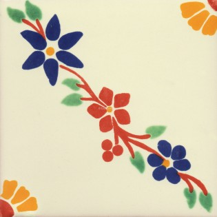 Mexican Talavera Tiles Flowers 3