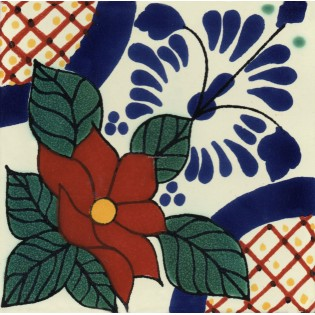 Mexican Talavera Tiles Flowers 23
