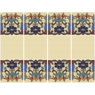 Ceramic High Relief Border Tile Cuenca