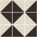 Mexican Ceramic Frost Proof Tiles  White and Brown