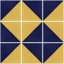 Mexican Ceramic Frost Proof Tiles Blue and Yellow