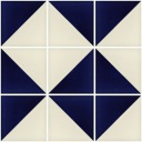 Mexican Ceramic Frost Proof Tiles  White Blue
