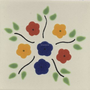 Ceramic Frost Proof Tiles Flowers 4