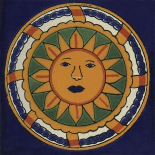 Mexican Talavera Tiles Sun 7