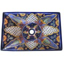 Mexican Talavera Vessel Rectangular Sink VSR15