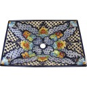 Mexican Talavera Vessel Rectangular Sink VSR16
