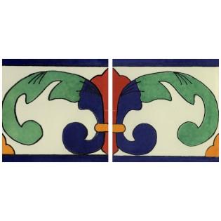Mexican Talavera Border Tile Vinuela Left