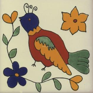 Mexican Talavera Tiles Bird 1
