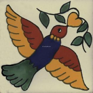 Mexican Talavera Tiles Bird 5