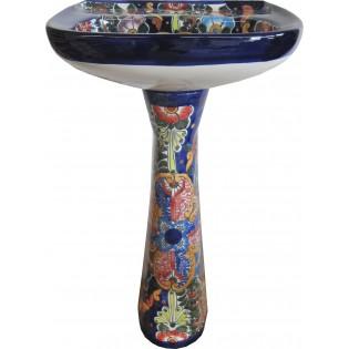 Mexican Talavera Pedestal Sink Abundancia